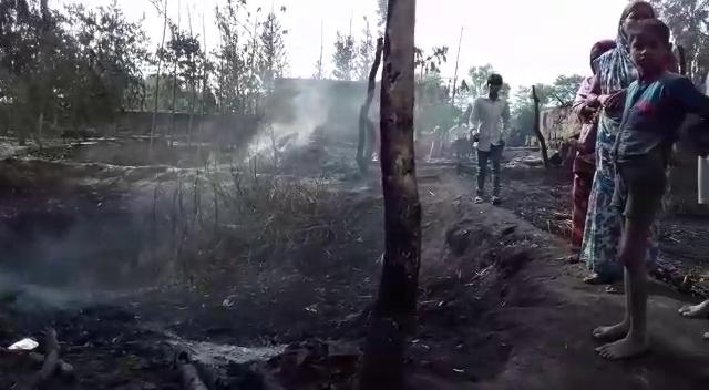 आंधी व आग ने जमकर ढाया कहर एक की मौत 10 घायल