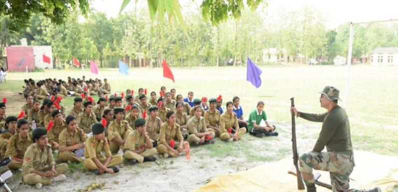 NCC के 10 दिवसीय प्रशिक्षण में 300 गर्ल कैडेटस ने लिया हिस्सा