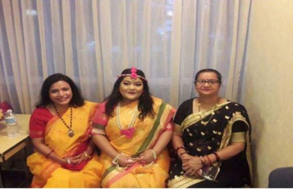 विदेश में लिए सात फेरे भारत में किया गया मंत्रों का उच्चारण
