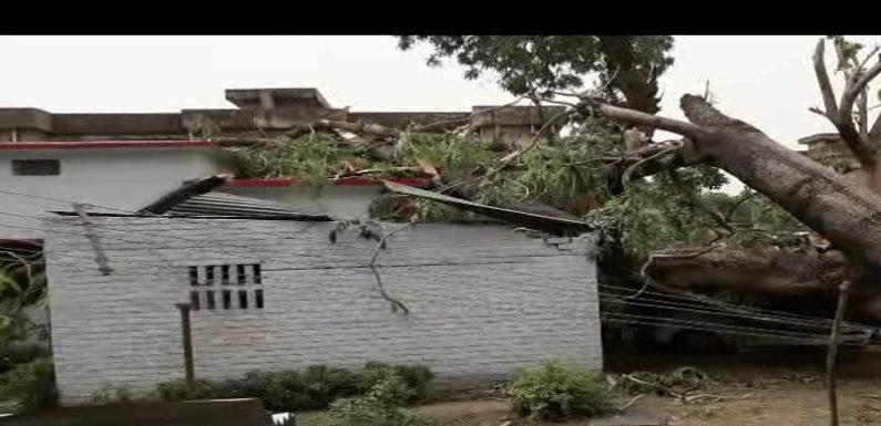 भीषण आंधी और बरसात से फैजाबाद में पसरी दहशत, एक महिला की मौत