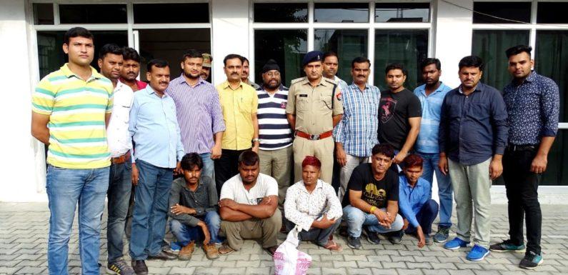 सर्राफा व्यापारी से 11 लाख रुपए की लूट, सोना चांदी बरामद, 5 आरोपी गिरफ्तार