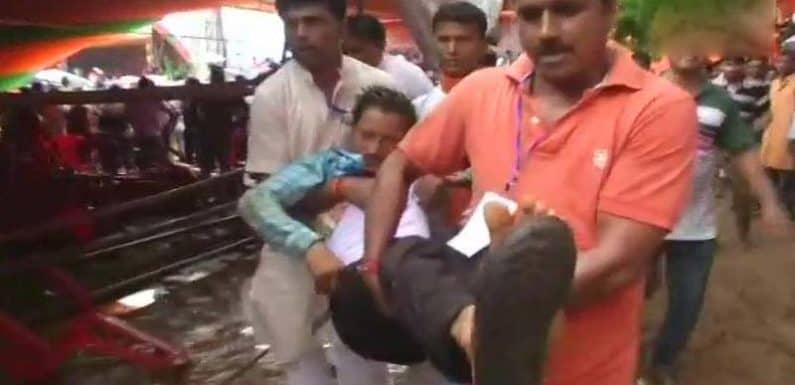 पश्चिम बंगाल में पीएम मोदी की रैली में गिरा पंडाल 22 लोग हुए घायल