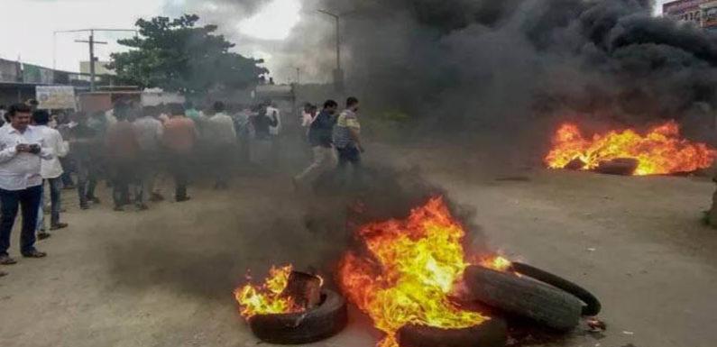 मराठा आरक्षण मांग को लेकर मुंबई बंद, एक सिपाही की मौत, 9 घायल