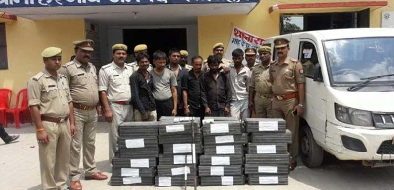 अंतर्जनपदीय 06 शातिर लुटेरे 350,000 रु की बैटरी व 50000 नगदी सहित गिरफ्तार