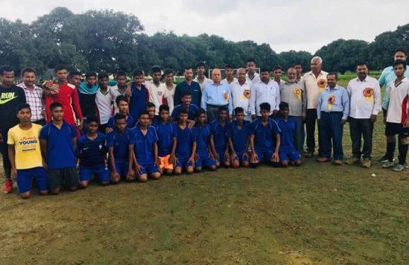 अंडर 14 वर्षीय जनपदीय फुटबॉल प्रतियोगिता का हुआ आयोजन
