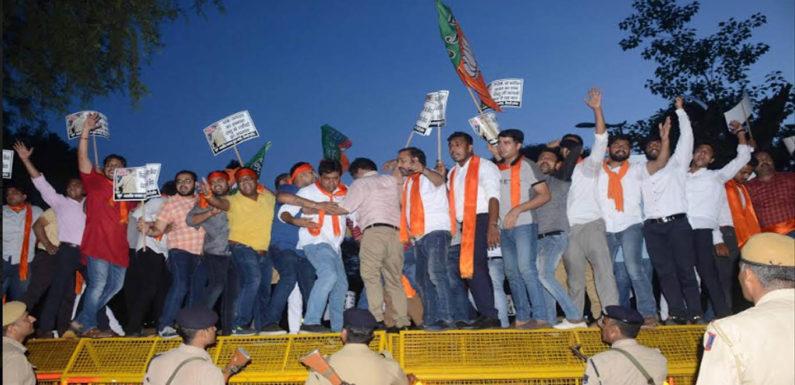 सिध्दू- पाक जनरल का मेल, कांग्रेस का है खेलः भाजयुमो