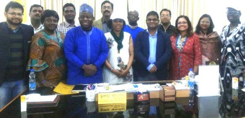 नाइजीरियाई डेलीगेशन ने जिलाधिकारी से भेंट कर स्वास्थ्य क्षेत्र पर की चर्चा