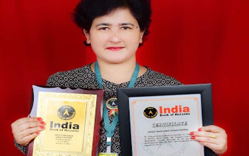 भारत की संस्कृति को कलाकृतियाँ से दर्शाते हुए बनाया इंडिया बुक ऑफ़ रिकार्ड्स