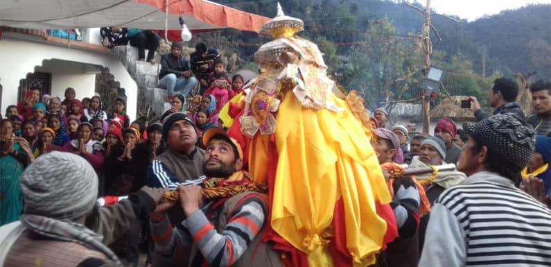 भगवान तुंगनाथ की डोली सिदेली पहुंची डोली का भव्य स्वागत