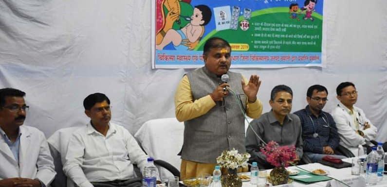 महेन्द्र प्रसाद भट्ट ने गोपेश्वर में सघन डायरिया नियत्रंण पखवाड़ा कार्यक्रम का किया शुभांरभ