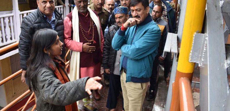 भारत सरकार की महत्वाकांक्षी प्रसाद योजना के तहत बद्नीनाथ धाम में सौन्दर्यीकरण कार्य शुरू