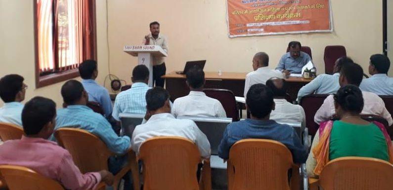 गोरखनाथ कृषि विज्ञान केंद्र में कृषि प्रसार कर्मियों के लिए प्रशिक्षण का आयोजन