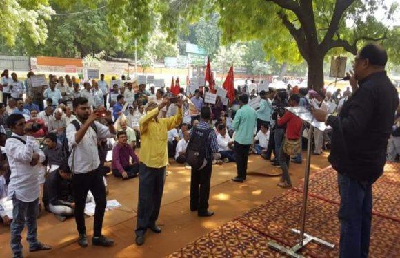 मीडियाकर्मियों का दिल्ली में विशाल प्रदर्शन