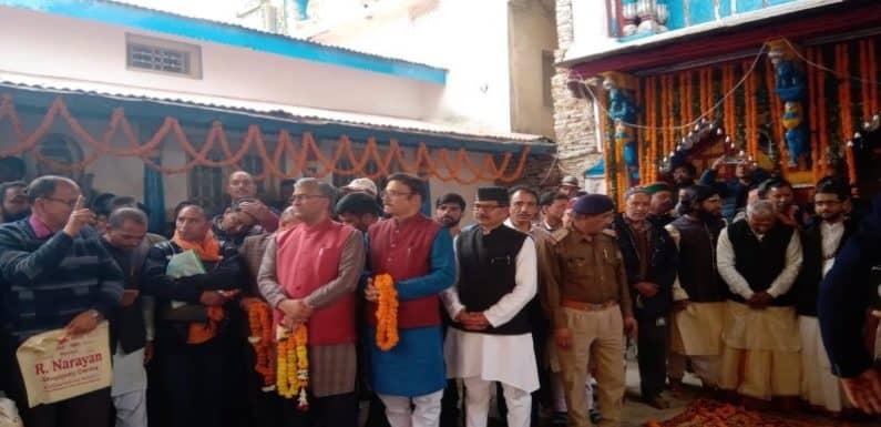 मुख्यमंत्री त्रिवेंद्र सिंह रावत ने की बाबा मद्महेश्वर के डोली की अगवानी