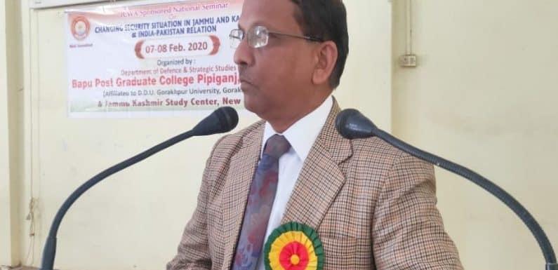 जम्मू कश्मीर का बदलता सुरक्षा परिदृश्य विषय पर संगोष्ठी का आयोजन