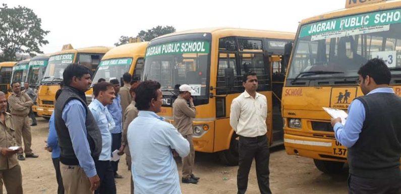 परिवहन विभाग ने चलाया अभियान, 137 स्कूल बसों की हुई चेकिंग