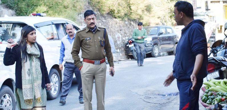 जिलाधिकारी एवं पुलिस अधीक्षक ने क्षेत्र भ्रमण कर व्यवस्थाओं का लिया जायजा