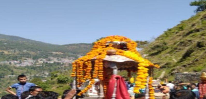 श्री केदारनाथ भगवान की पंचमुखी डोली धाम रवाना हुई,इस दिन खुलेंगे कपाट