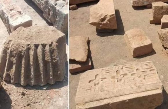 रामलला के गर्भगृह की खुदाई व समतलीकरण का कार्य शुरू ,राममंदिर से संबंधित अवशेष मिले