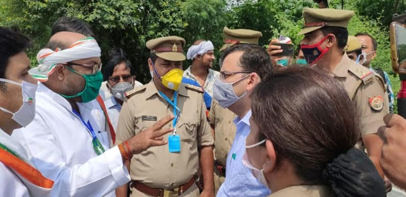 यूपी कांग्रेस प्रदेश अध्यक्ष अजय कुमार लल्लू पुलिस हिरासत में