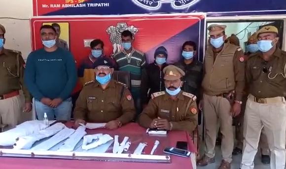 सिद्धार्थनगर :  पुलिस और एसओजी की टीम ने 4 शातिर चोरों को किया गिरफ्तार