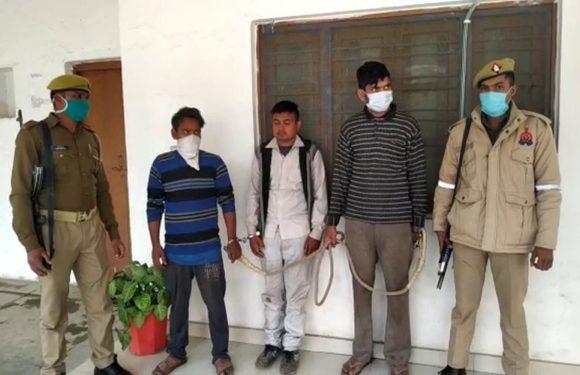नारियल की आड़ में गाजे की तस्करी करने वाले तीन शातिर गिरफ्तार