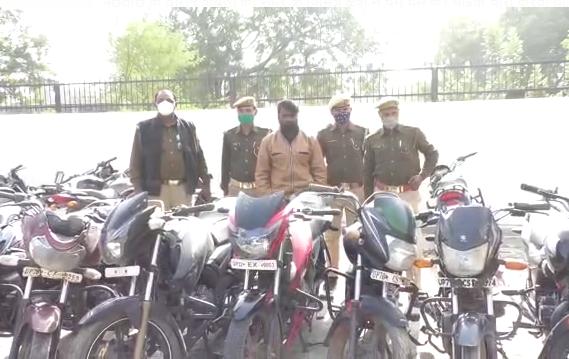कानपुर पुलिस की गिरफ्त में आया शातिर वाहन चोर