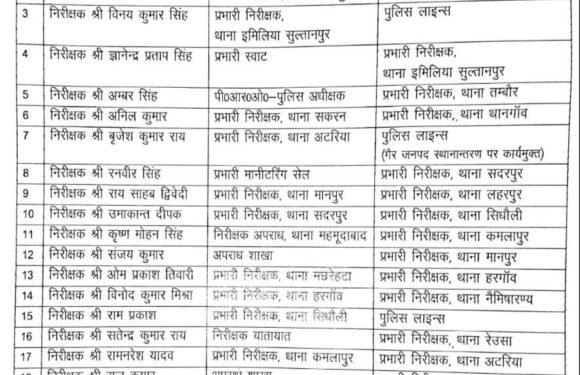 सीतापुर : एसपी आरपी सिंह ने देर रात किया भारी फेरबदल