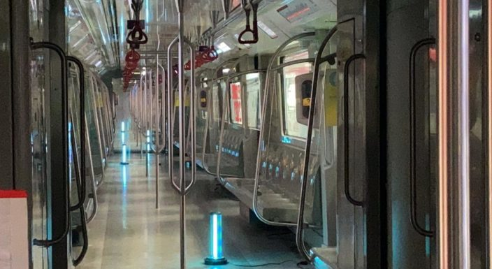 लखनऊ मेट्रो ने शुरु किया अल्ट्रा वॉयलेट किरणों से मेट्रो ट्रेन का सैनिटाइजेशन