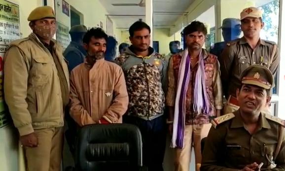 जालौन : चोरी के योजना बना रहे तीन बदमाश चढ़े पुलिस के हत्थे