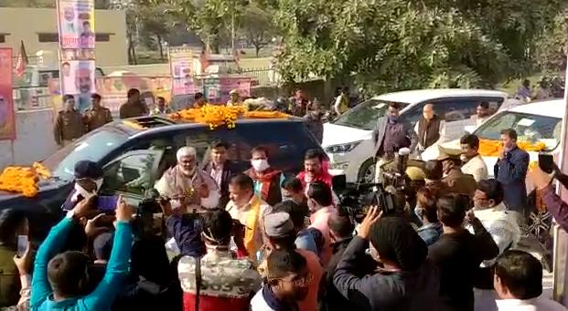 सिद्धार्थनगर : जिले में पहुँचे बीजेपी के प्रदेश अध्यक्ष स्वतंत्र देव सिंह