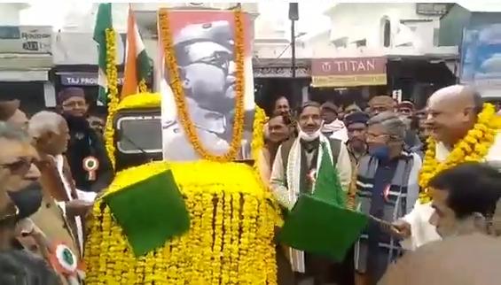 अयोध्या : नेताजी सुभाष चंद्र बोस राष्ट्रीय विचार मंच ने निकाला सम्मान मार्च