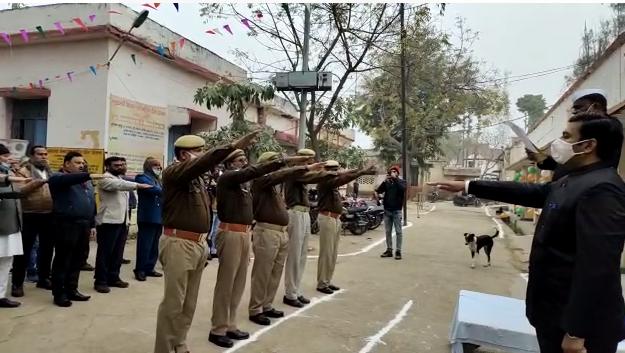 अमेठी : 72 वें गणतंत्र दिवस की धूम, मनाया गया झंडारोहण कार्यक्रम