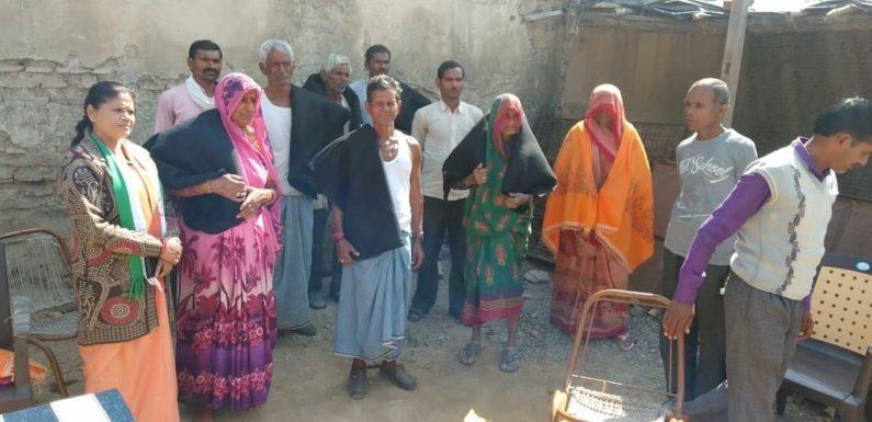 झाँसी : निर्धन असहाय, निर्बल वर्ग के लोगो को किया कम्बल वितरण