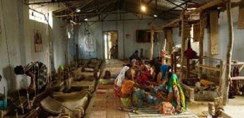 करघे में तकनीकी इस्तेमाल से लाभ कमा रहीं दुधवा टाइगर रिजर्व क्षेत्र की महिलाएं