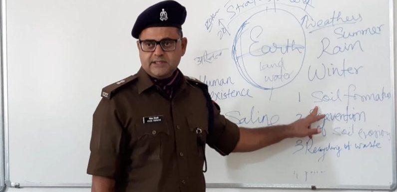अभ्युदय योजना के तहत आज पुलिस अधीक्षक नगर ने परीक्षार्थियों को क्लास रूम में पढ़ाया
