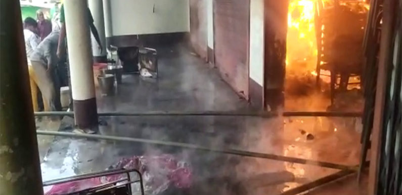 टेंट हाउस में लगी भीषण आग, लाखों का नुकसान