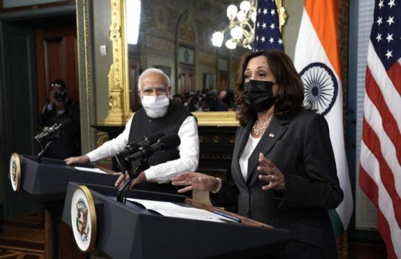 प्रधानमंत्री श्री नरेन्द्र मोदी और अमेरिका की उपराष्ट्रपति कमला हैरिस के बीच हुई बैठक