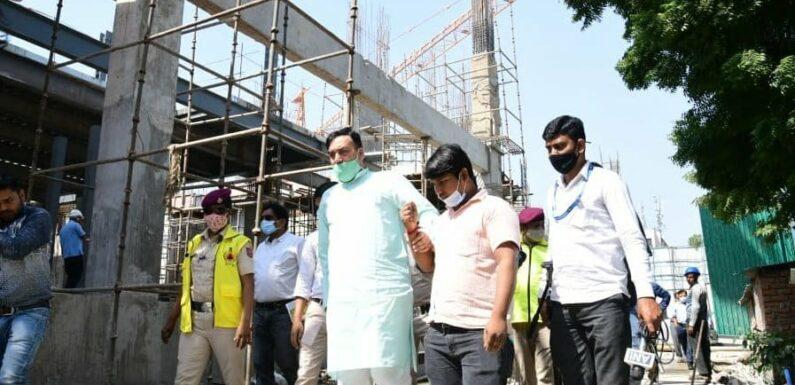 पर्यावरण मंत्री ने डब्ल्यूएचओ बिल्डिंग के निर्माण स्थल का औचक निरीक्षण किया
