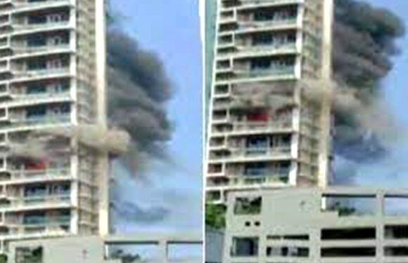 मुंबई: रिहायशी इमारत की 19वीं मंजिल में लगी आग, बचने के लिए बालकनी से लटका शख्स की मौत